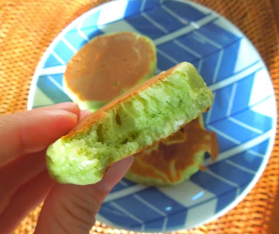青汁アレンジホットケーキ