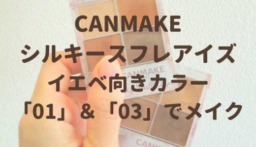 【イエベ向き】キャンメイク シルキースフレアイズ 「01」&「03」の色・仕上がりをチェック