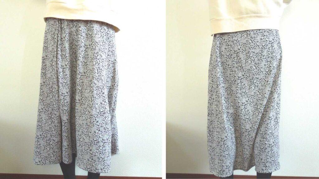 静電気でまとわりつくスカート