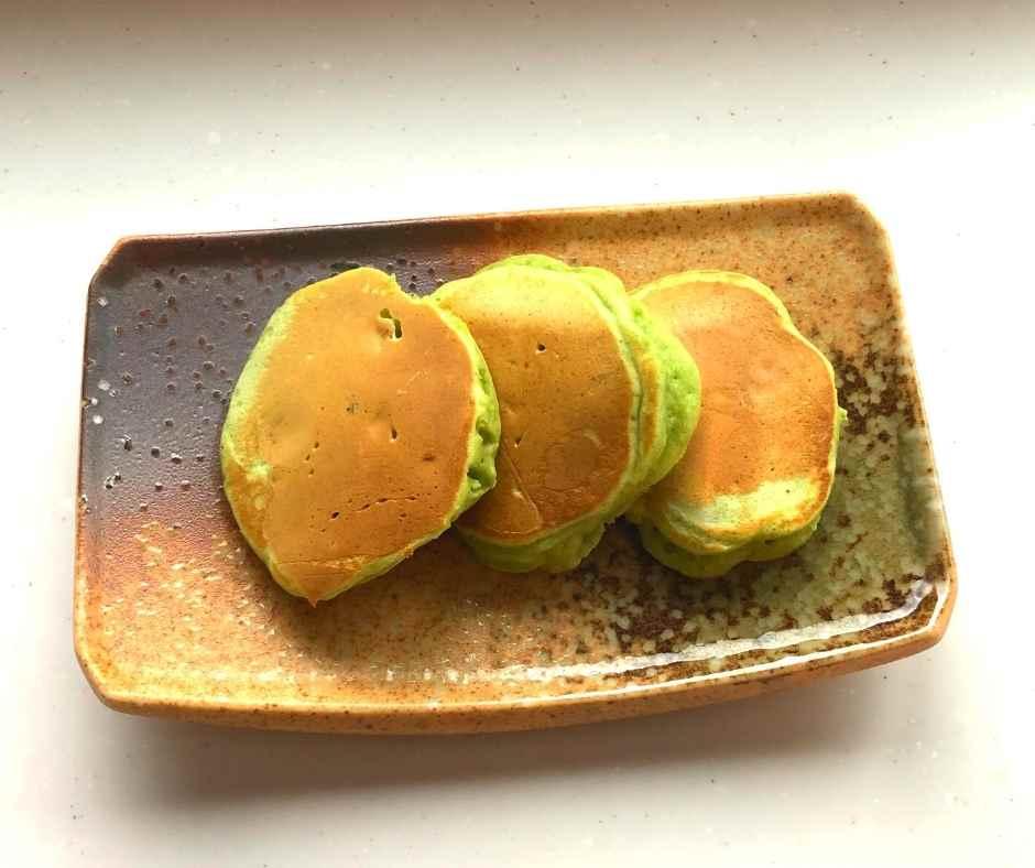 ザ・ケール+ハチミツを使って作ったホットケーキ