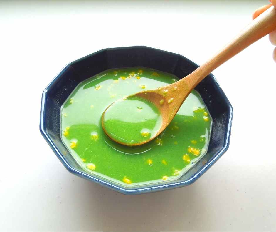 やわた本青汁 コーンスープに混ぜてもおいしい
